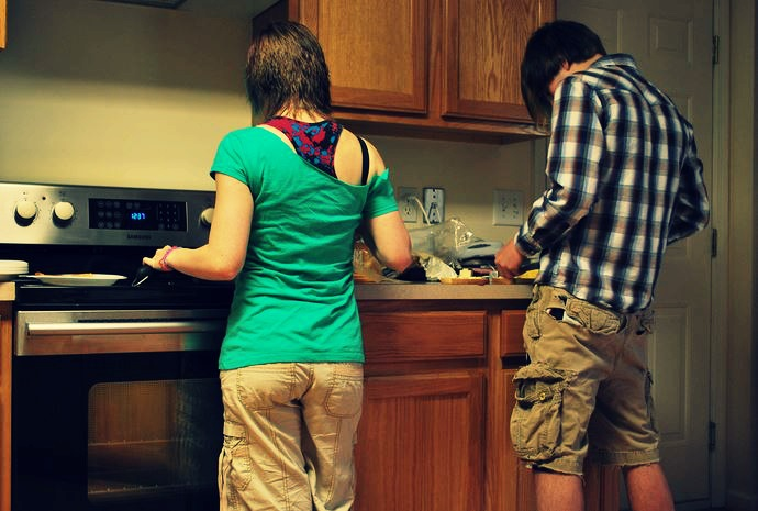 cooking roommates-flickr